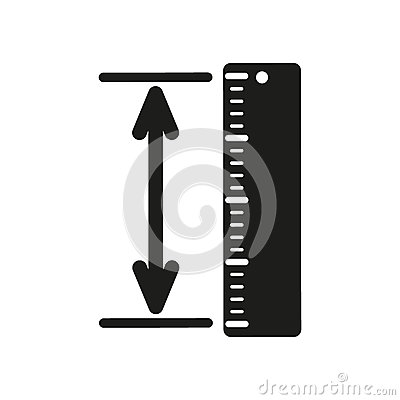 Free The Measuring Height And Length Icon. Ruler, Straightedge, Scale Symbol. Flat Royalty Free Stock Images - 79865329