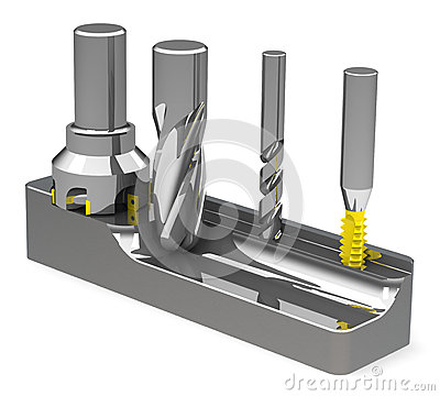 Free The Milling Cutters Stock Photography - 48461172