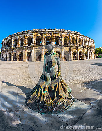 Free The Monument To Toreador And  Roman Amphitheater Stock Image - 61291961