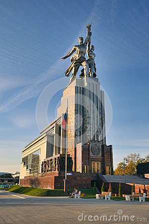 Free The Monument To Worker And Kolkhoz Woman At VDNKh - Moscow Monuments And Sculptures Stock Images - 89573444