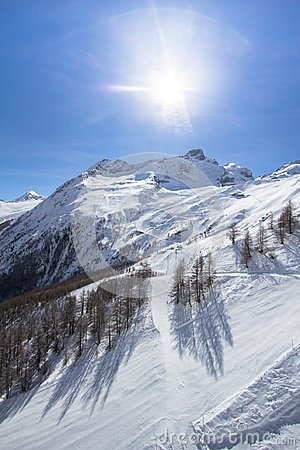 Free The Mountain Range In Saas Fee, Switzerland Royalty Free Stock Photography - 106715087