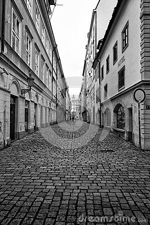 Free The Narrow Streets In The Historic Center Of The Old Town Of The Prague Royalty Free Stock Photos - 40199798