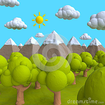 Free The Natural Landscape Of Plasticine Or Clay Royalty Free Stock Photo - 51964125