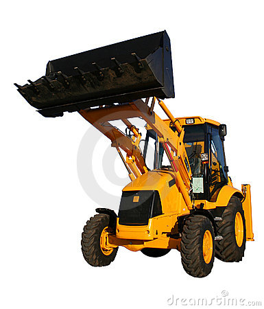 Free The New Bulldozer Of Yellow Color With The Lifted Bucket Stock Photo - 1551790