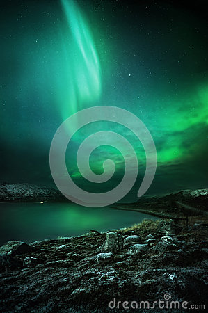 Free The Northern Lights Rising Stock Photo - 28970300