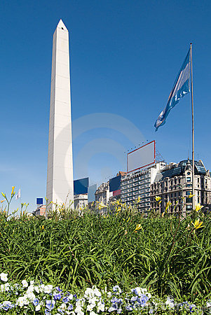 Free The Obelisk A Major Touristic Destination In Bueno Royalty Free Stock Photography - 5973877