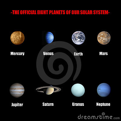 Free The Official Eight Planets Of Our Solar System Stock Photo - 6076690