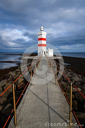 Free The Old Garðskagi Lighthouse In Iceland Royalty Free Stock Photography - 118210717