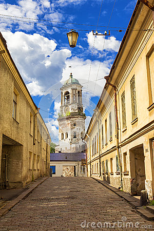 Free The Old Streets Of Vyborg, Russia Stock Image - 65381331