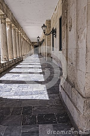 Free The Palace Of St Michael And St George In Corfu Town On The The Greek Island Of Corfu Stock Images - 101598234