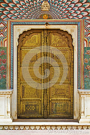 Free The Peacock Door Of City Palace Royalty Free Stock Photo - 29756985