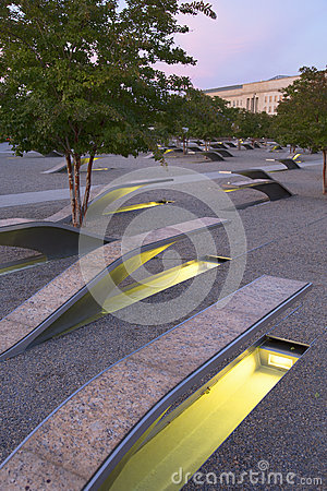 Free The Pentagon Memorial Features 184 Empty Benches Royalty Free Stock Photography - 35467087
