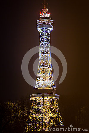 Free The Petřín Lookout Tower Stock Image - 65301251