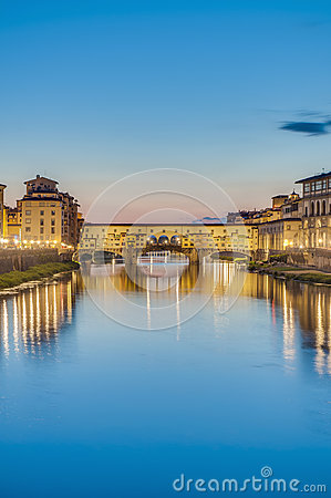Free The Ponte Vecchio (Old Bridge) In Florence, Italy. Royalty Free Stock Images - 26181499