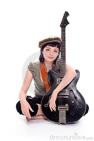 Free The Poor Girl The Musician Royalty Free Stock Photography - 2336697