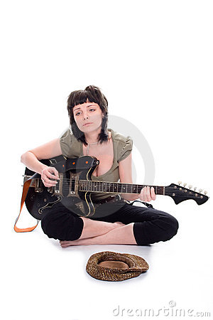 Free The Poor Girl The Musician Stock Photo - 2336700
