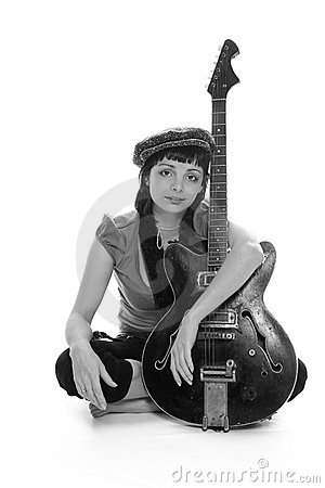 Free The Poor Girl The Musician Royalty Free Stock Image - 2349456