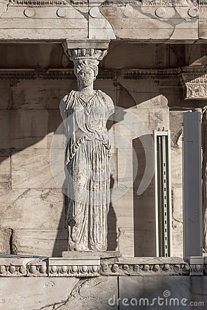 Free The Porch Of The Caryatids In The Erechtheion An Ancient Greek Temple On The North Side Of The Acropolis Of Athens, Greece Royalty Free Stock Image - 86650506