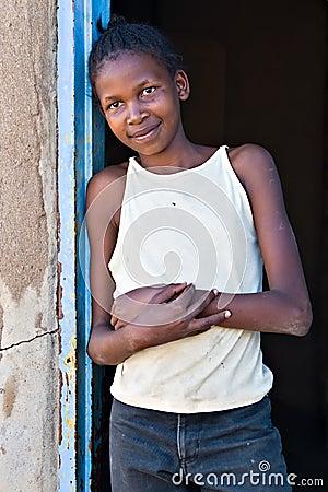 Free The Poverty Smile Royalty Free Stock Photos - 2765448