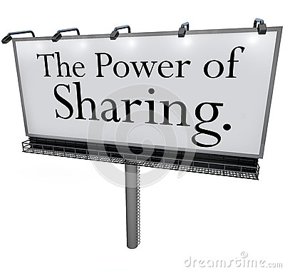 Free The Power Of Sharing Billboard Message Donate Give Help Others Royalty Free Stock Photo - 31478185