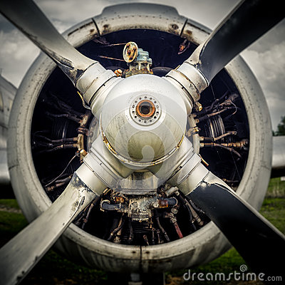 Free The Propeller Of An Old Airplane Royalty Free Stock Photos - 91915338