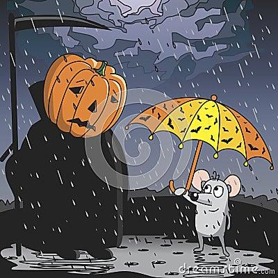 Free The Rain On Halloween. Royalty Free Stock Photography - 126072677