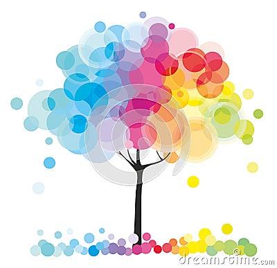 Free The Rainbow Tree Royalty Free Stock Photo - 21795625