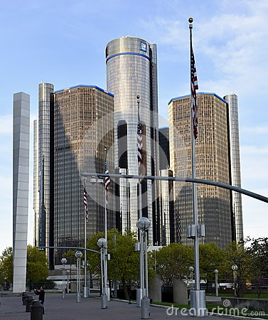 Free The Renaissance Center Royalty Free Stock Photography - 91083757