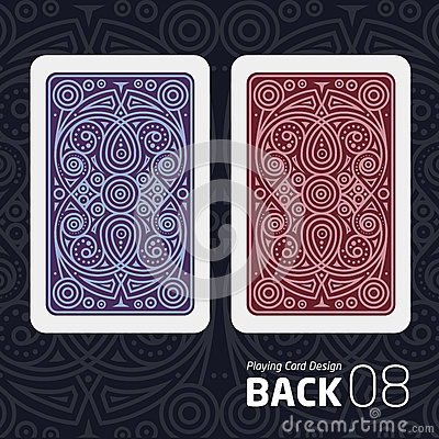 Free The Reverse Side Of A Playing Card For Blackjack Other Game With A Pattern. Stock Image - 80396321