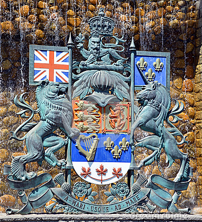 Free The Royal Coat Of Arms Of Canada Stock Images - 56888544