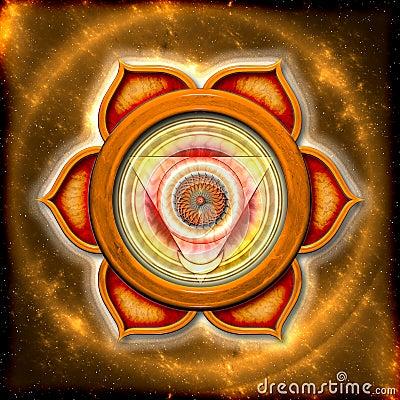 Free The Sacral Chakra Royalty Free Stock Image - 31194816