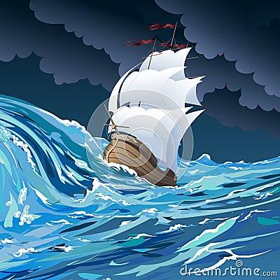 Free The Sail Ship Stock Photos - 38351003