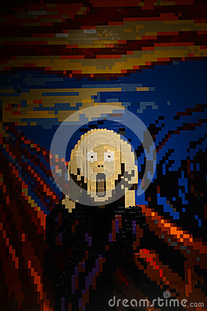 Free The Scream In Lego Royalty Free Stock Images - 44407509