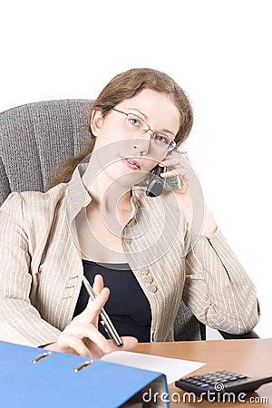 Free The Secretary Speaks On Phone II Stock Photo - 4425220