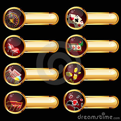 Free The Set Of Casino Elements Stock Images - 22841164