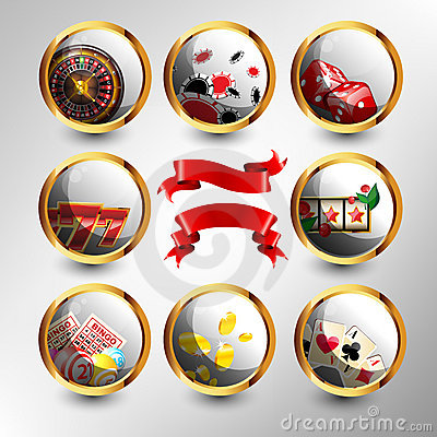Free The Set Of Casino Elements Royalty Free Stock Photos - 22841318