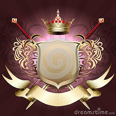 Free The Shield With Crown Stock Photo - 36636590