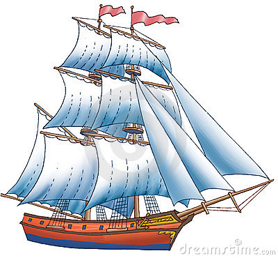 Free The Ship With Sails Stock Images - 4897674