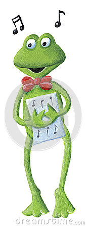 Free The Singing Frog Royalty Free Stock Images - 42907749