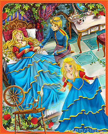 Free The Sleeping Beauty - Prince Or Princess - Castles - Knights And Fairies - Illustration For The Children Stock Image - 32081071