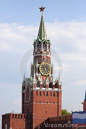 Free The Spasskaya Tower (Moscow) Royalty Free Stock Image - 12187036