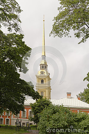 Free The Spire Of The Peter And Paul Cathedral In St. Petersburg Stock Images - 67212494