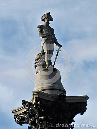 Free The Statue Honoring Lord Nelson Stands Watch Over London Royalty Free Stock Images - 125193629