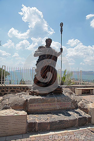 Free The Statue Of Saint Peter At Capharnaum, Israel Royalty Free Stock Photo - 61826725