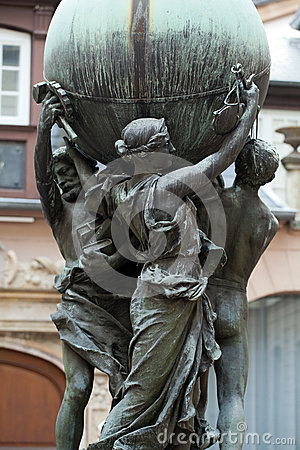 Free The Statue On The Courtyard The Museum Bartholdi In Colmar Stock Photography - 41338512