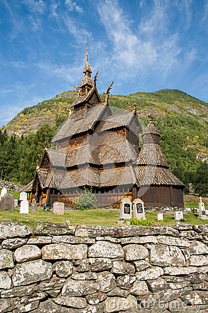 Free The Stave Church (wooden Church) Borgund, Norway Stock Photography - 25790722