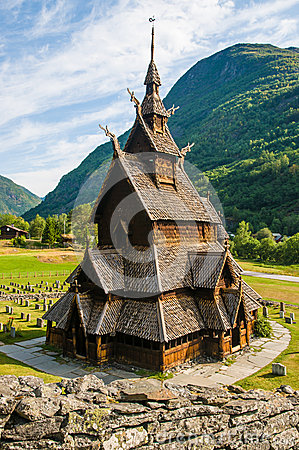 Free The Stave Church (wooden Church) Borgund, Norway Stock Photo - 25790800