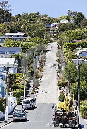 Free The Steepest Street Royalty Free Stock Photography - 76338027