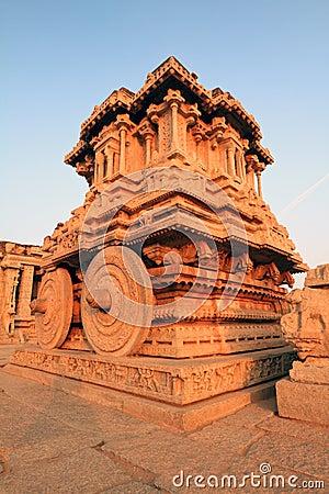 Free The Stone Chariot At The Vittala Temple, Hampi Stock Photo - 12348100