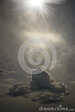 Free The Strange Sky Royalty Free Stock Image - 9716806